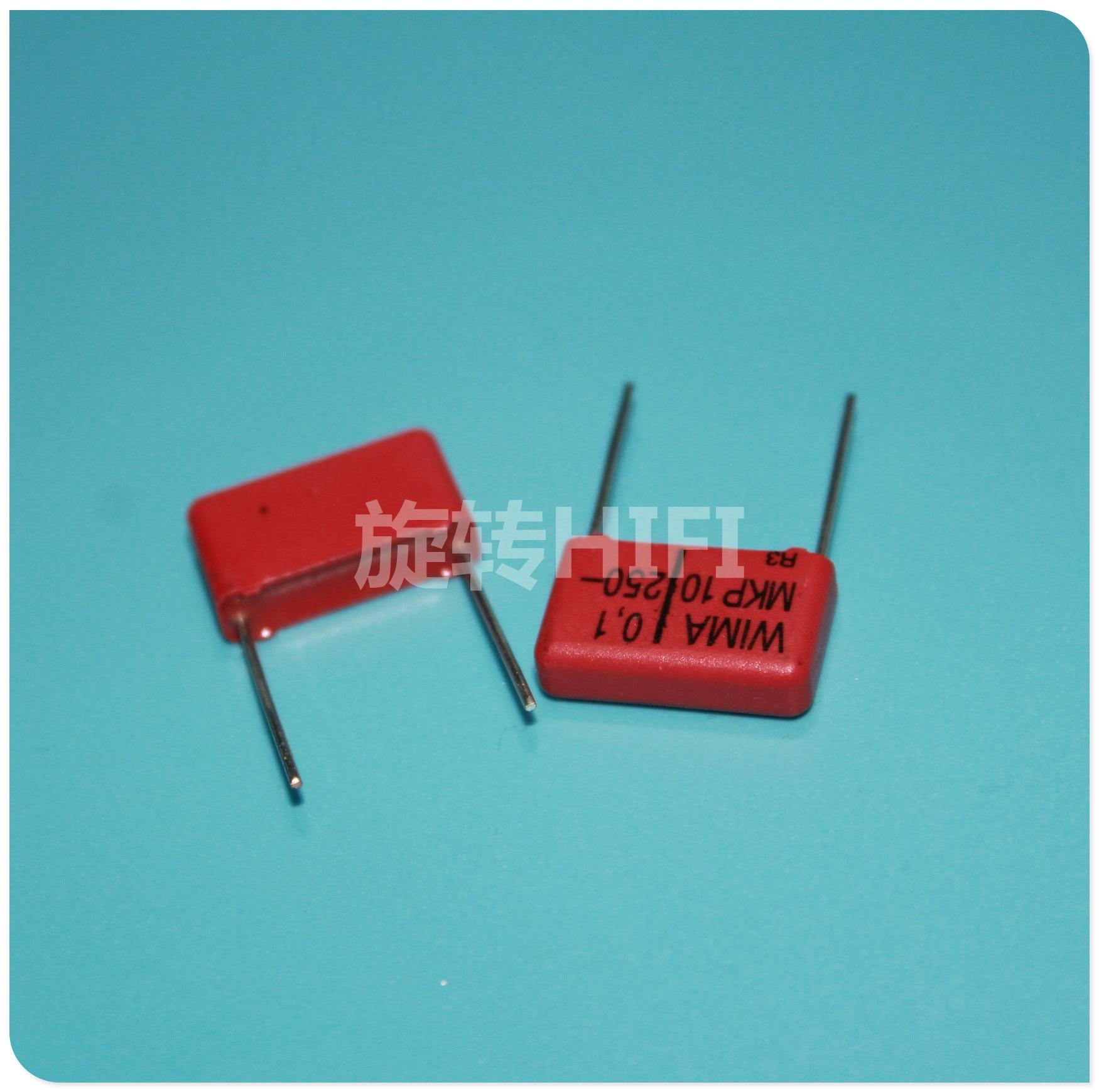 10 Uds rojo WIMA MKP10 100NF/250V p15mm original nuevo MKP-10 104/250V audio 100nf película 104 PCM15 gran oferta 0,1 UF 250V