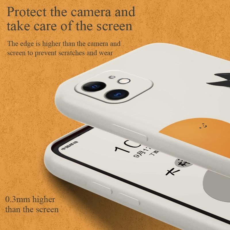 Clever Cat Phone Case For iPhone 12 Pro Max 11 X XS  XR XSMAX SE2020 8 8Plus 7 7Plus 6 6S Plus Liquid Silicone Cover