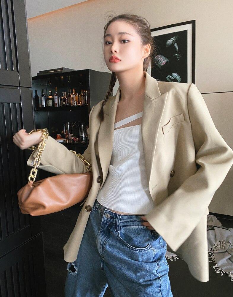 blazer for women 2021 female spring autumn loose coat 6027#
