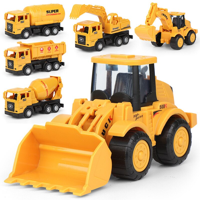 Engineering Alloy Car Tractor Diecasts Vehicle Toy Dump Truck Model Classic Toy Cars For Children Boy Kids Gift недорого