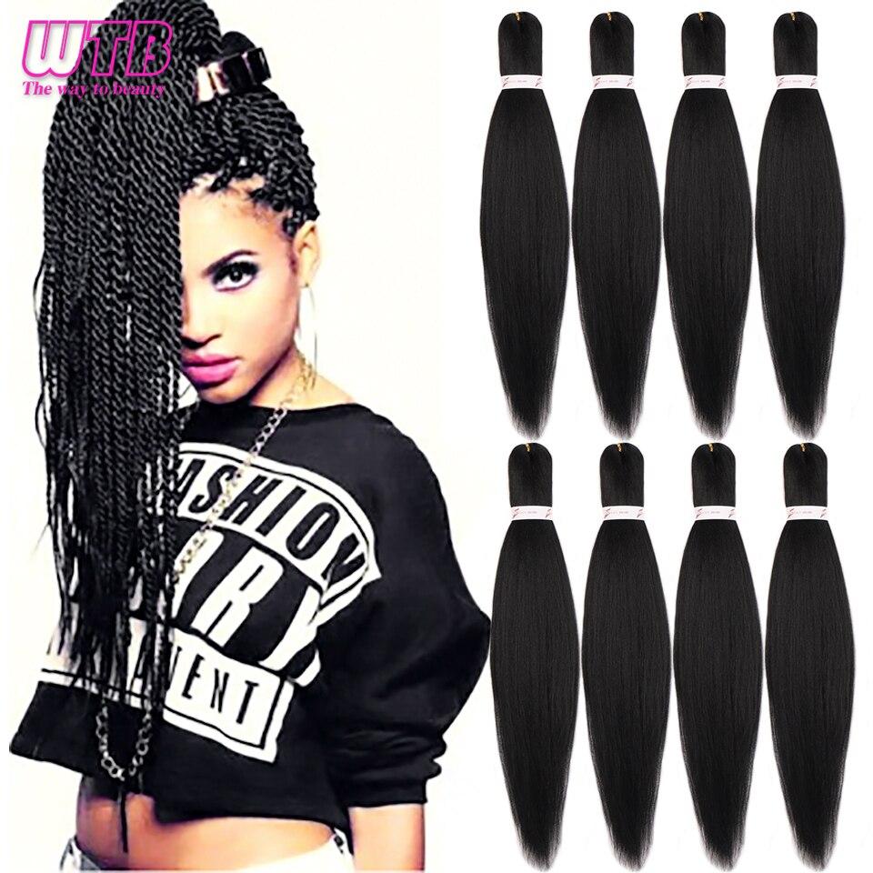 WTB, trenza fácil, cabello torzado trenzado senegalés sintético, Morado, Rosa, trenza Ombre, trenza con textura de Yaki, extensiones de cabello trenzado