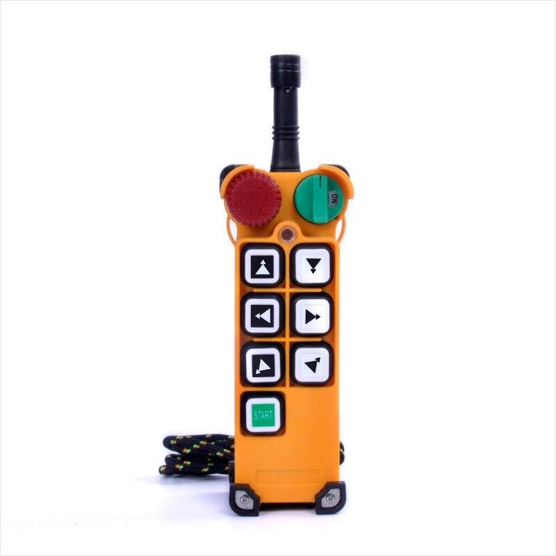 Transmissor sem fio industrial do dobro da velocidade 6 botões F24-6D para o guindaste