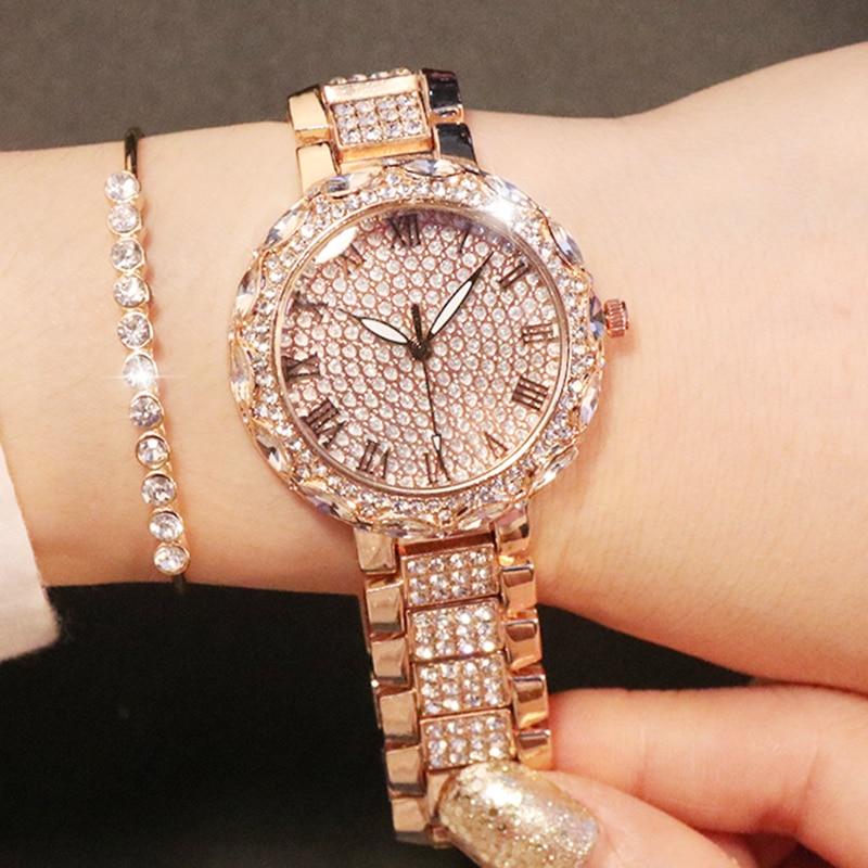 Relojes de mujer guú 2019 relojes de pulsera de diamantes de lujo para mujer reloj de diamantes de imitación para mujer montre femme bayan kol saati
