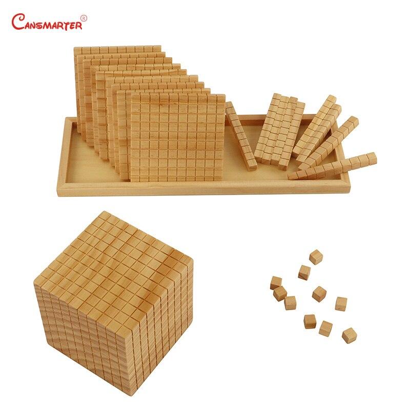 Ten Base Math Toys Montessori Wooden Box Professional Montessori Student Teaching Number Educational Toys Children MA085