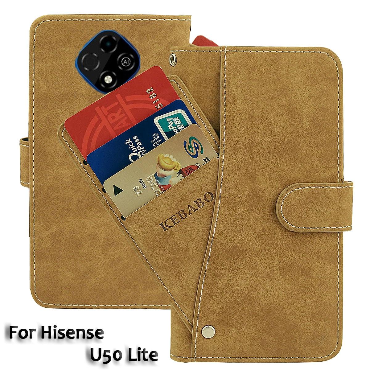 Vintage Leather Wallet Hisense E50 Lite Case 6.52