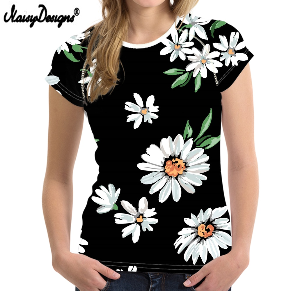 2020 New Black Flower Women Casual T Shirt Clothing Women Short Brand Sleeved Breathable Tshirt Female Fitness Tops Big Size BN