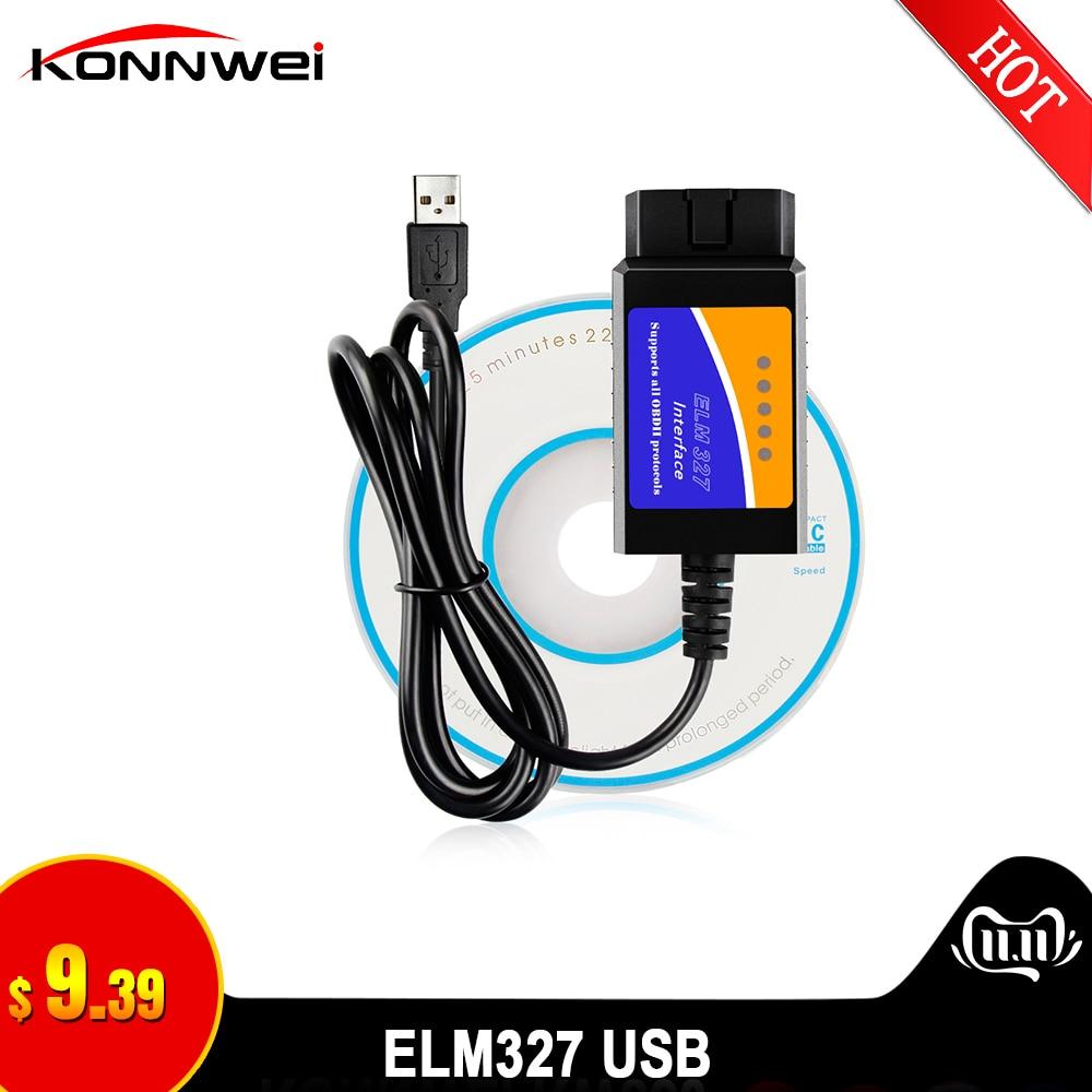ELM327 USB OBD2 FTDI FT232RL чип OBD II сканер автомобильный для ПК EML 327 V1.5 ODB2 интерфейс диагностический инструмент ELM 327 USB V 1,5