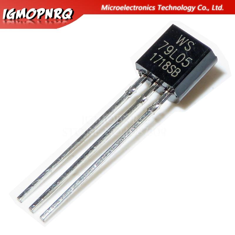 20 pces 79l05 ws79l05 to-92 5 v 100ma regulador de tensão original novo