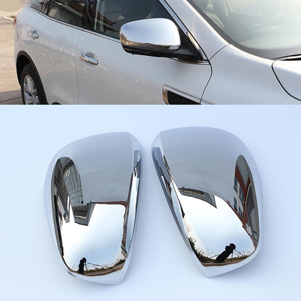Cubierta de espejo carcasas retrovisores cromado de coche para Renault Kadjar 2016 2017 2018 2019 fibra de carbono