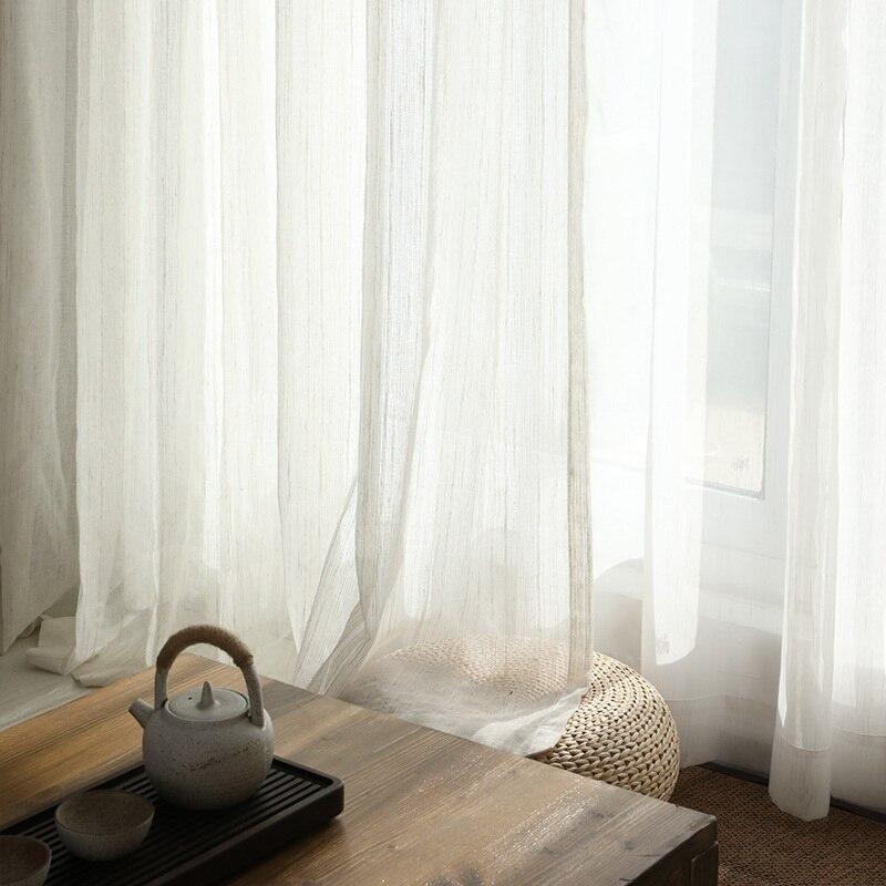 ستائر من الكتان والقطن بتصميم إسكندنافي ، حجاب ريفي على الطراز الياباني ، رعوي ، للمنزل والشرفة ، M170C