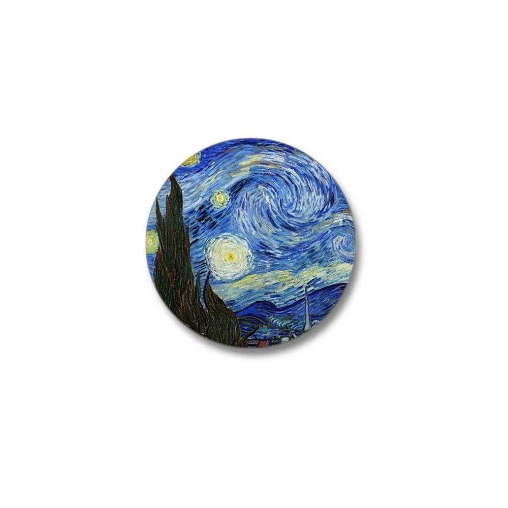 "Van Gogh Mini Button 1"" Round Mini Button"