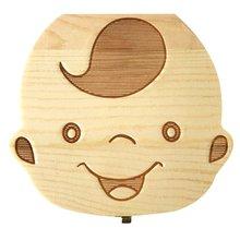 Boîte de rangement en bois de dents à feuilles caduques de cheveux de bébé boîte de Collection de cordon ombilical pour la boîte dorganisateur de bébé pour le cadeau en bois de dents de lait