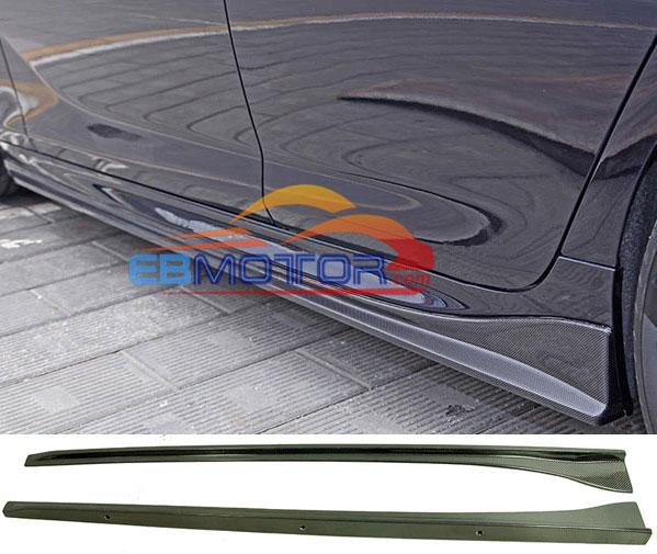 3D نمط ريال ألياف الكربون الجانب التنانير 2 قطعة ل BMW F06 640i 650i M6 الكبرى كوبيه M-الرياضة حزمة 2013UP B377