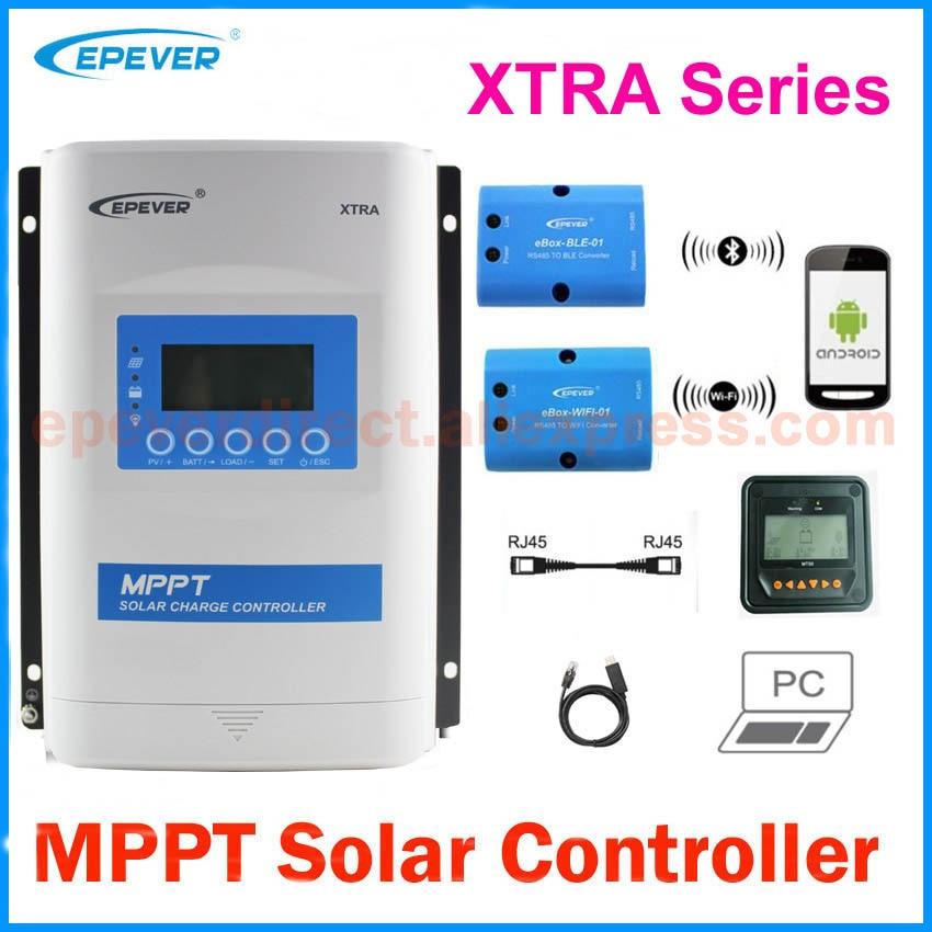 EPever-وحدة تحكم MPPT للألواح الشمسية ، مع شاشة LCD ، 10 ، 20 ، 30 ، 40a ، 12V ، 24V ، لبطاريات الليثيوم