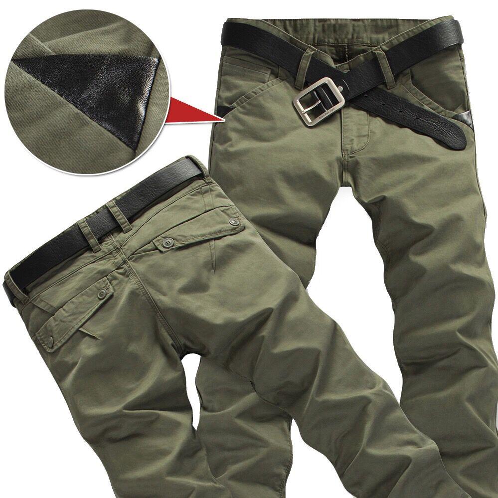 Брюки-карго мужские зимние с карманами, повседневные меховые штаны, модные Свободные мешковатые джоггеры, рабочая одежда, 28-38