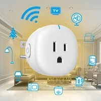 10A US Standard WiFi Smart Plug Outlet Tuya Remote Control Home Appliances Works With Alexa Google Home No Hub Require