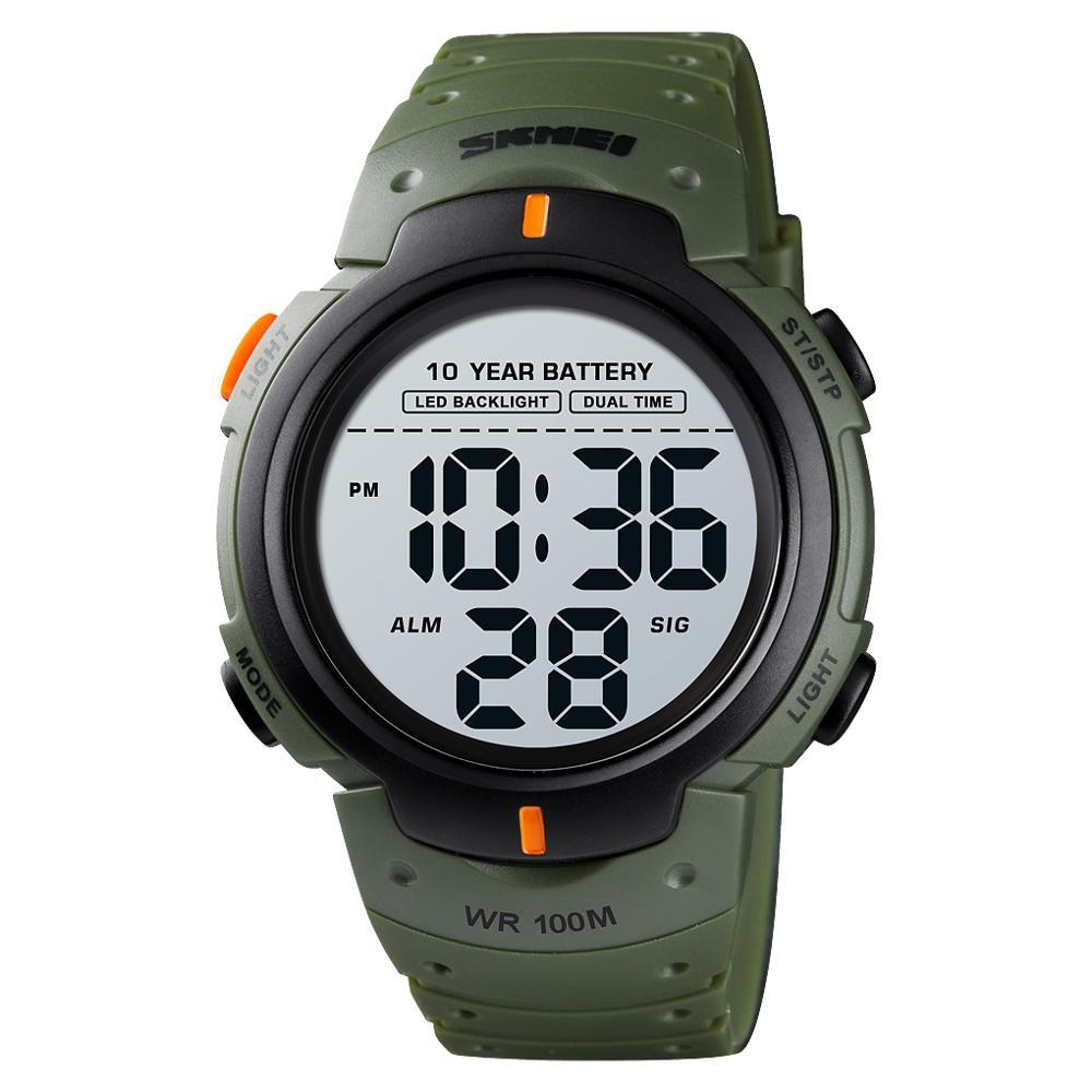 AliExpress - SKMEI 10 Years Battery Men's Watch 100M Waterproof Alarm Clock Sport Watches LED Digital Man Wrist Watch relogio masculino 1560