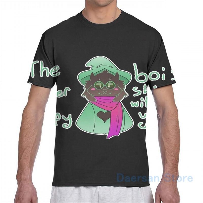deltarune Ralsei men T-Shirt women all over print fashion girl t shirt boy tops tees Short Sleeve tshirts