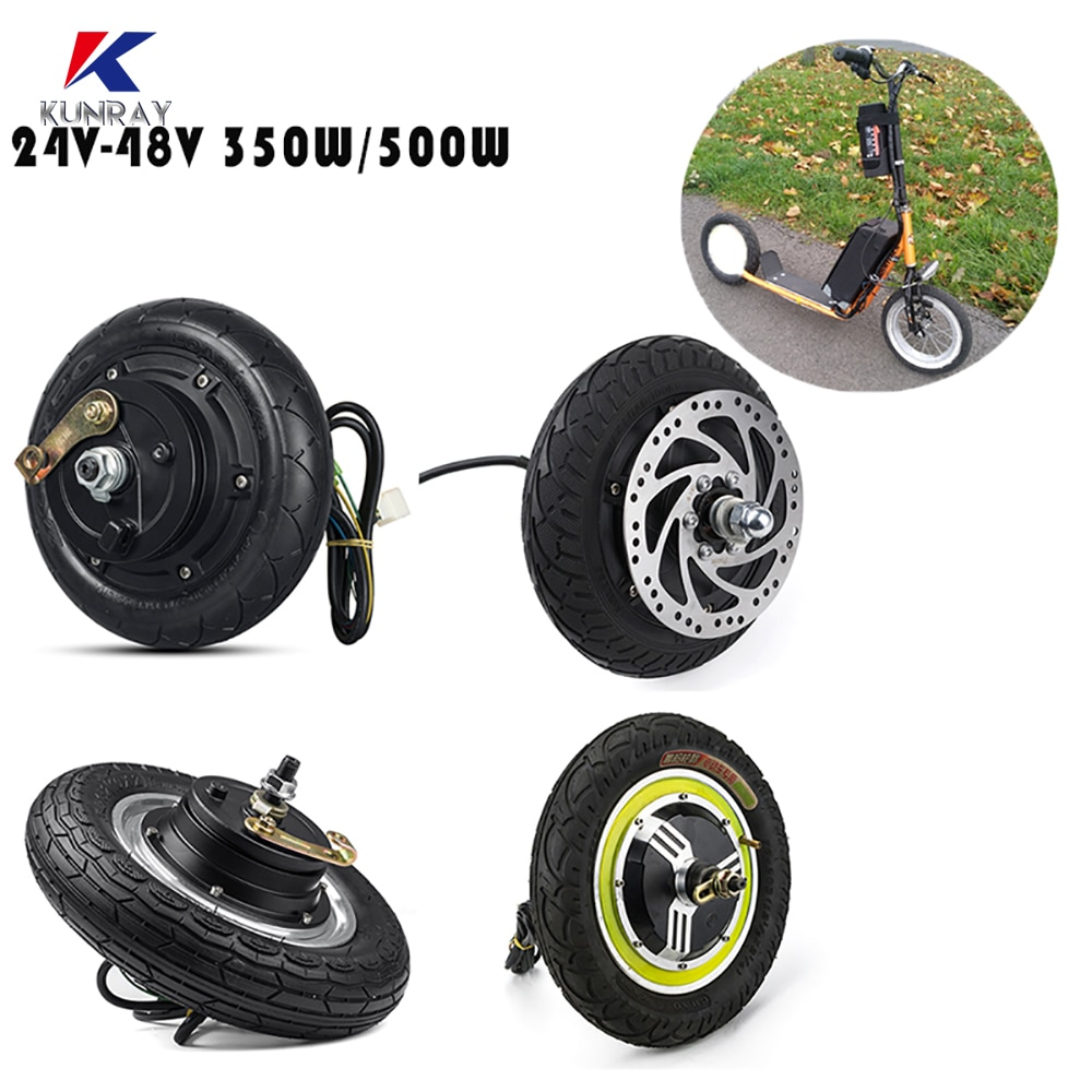 Electric Scooter Hub Brushless Motor 8/10/12 inch EBike Electric Scooter Conversion Kits 24V/36V/48V 350W/500W Hub Motor wheel scooter vacuum tire motor front hub 10 inch electric scooter 36v48v brushless motor 500w