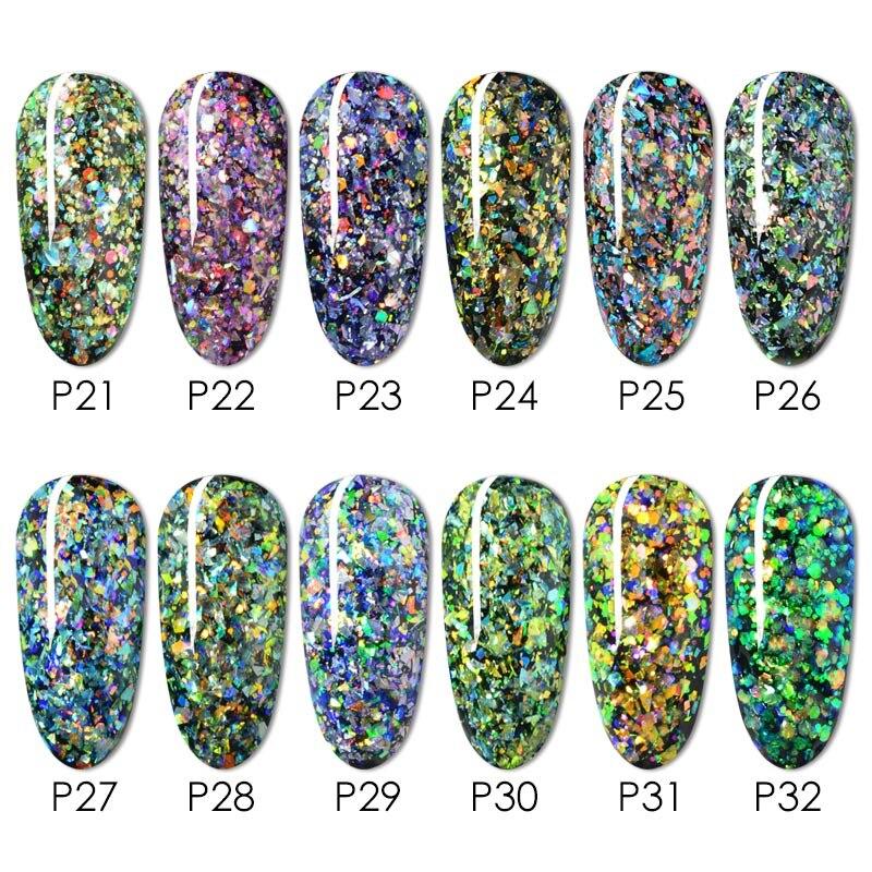 5ml * 12 Uds de Gel de Color pintura laca polaco frasco de 5ml de manicura profesional diseño arte de uñas Gel Led UV esmalte de uñas