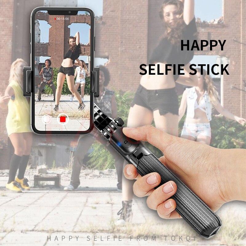 Bluetooth Handheld Gimbal Stabilizer Mobile Phone Selfie Stick Holder Adjustable Selfie Stand For iPhone/huawei enlarge