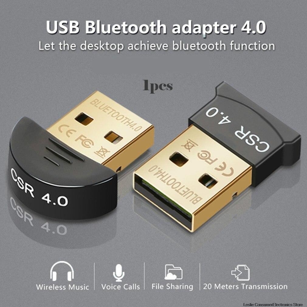 CSR 4,0 adaptador inalámbrico Bluetooth USB Dongle Mini receptor de Audio para ordenador altavoz Audio/controlador ps4/transmisor