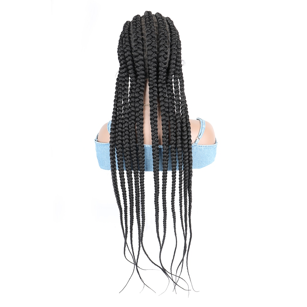 Braiding Hair Lace Synthetic Wigs Full Lace 32inches Black Wigs For Women Wig Braid Africa Braided Wigs Wholesale enlarge