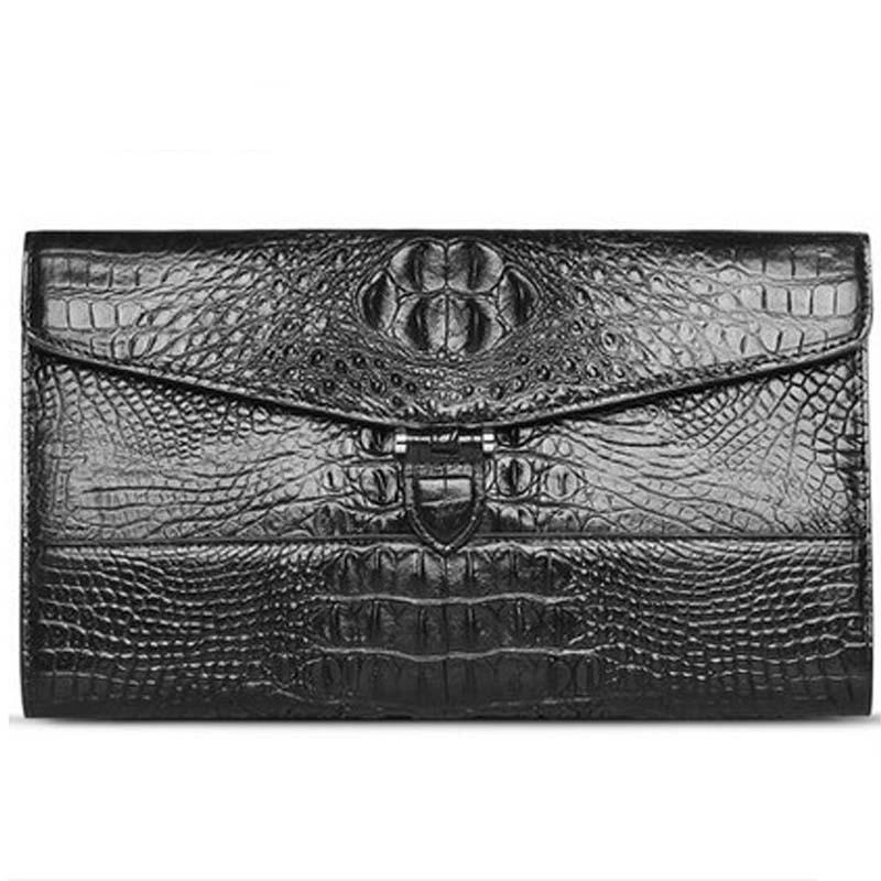 meixigelei crocodile leather men clutches bag men crocodile leather business bag new leisure youth  male large capacity bag