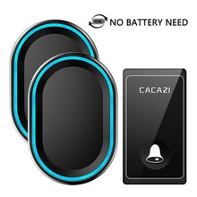 CACAZI New No Battery Need Wireless Doorbell 58 Chimes EU/US/UK Plug Self-Powered Waterproof Door be