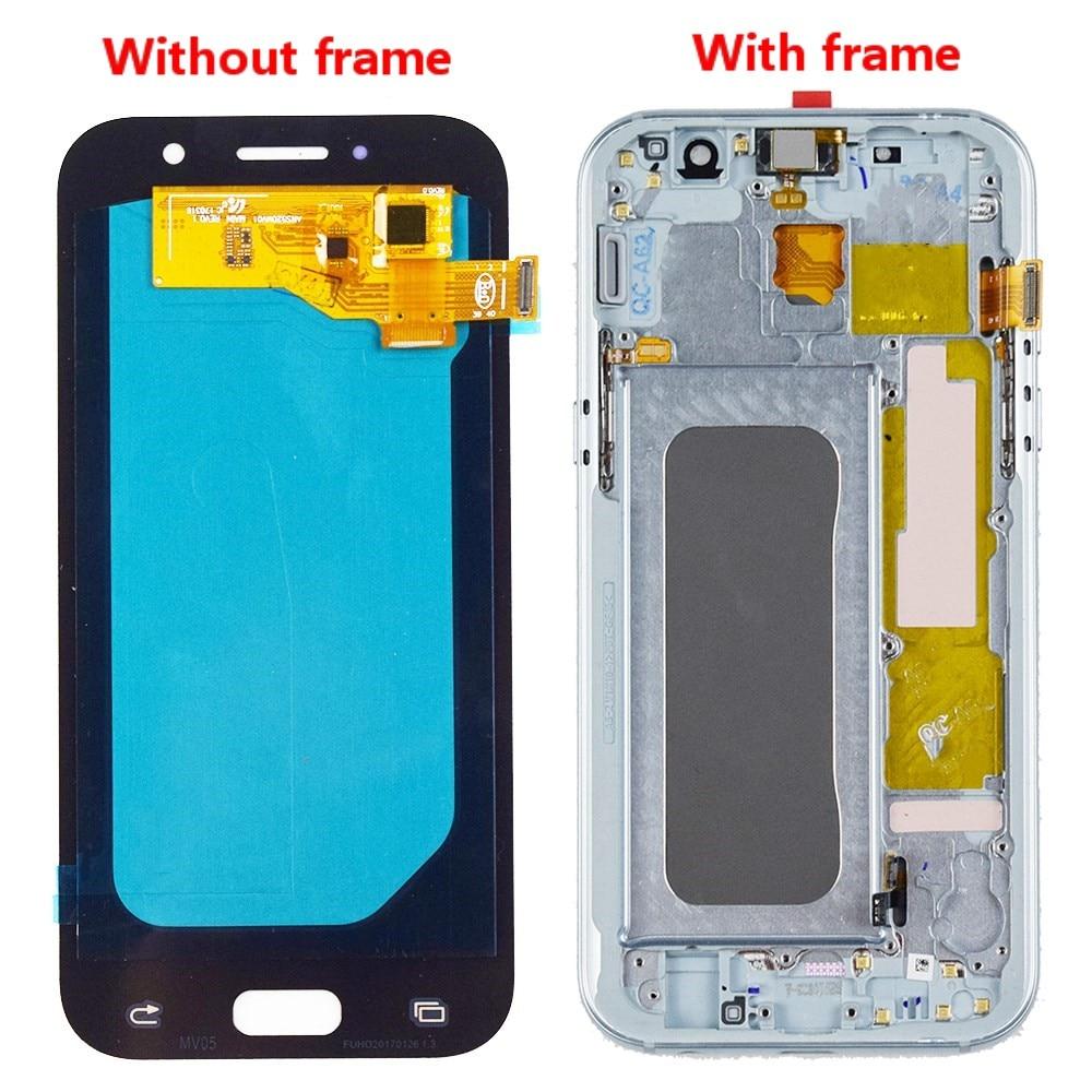 5.2 polegadas super amoled com quadro lcd para samsung galaxy a5 2017 a520 a520f SM-A520F display + touch screen digitador assembléia