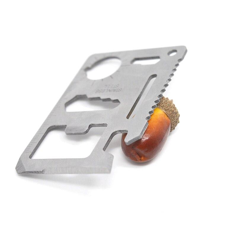 Tarjeta de Crédito cuchillo navaja multiusos de bolsillo cartera Multi herramienta Camping supervivencia herramientas llave inglesa