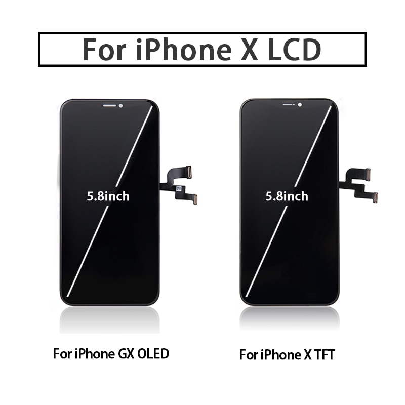 Perfect Quality AAA+++ For iPhone X GX LCD AMOLED No Dead Pixel Display Pantalla 3D Touch Screen Assembly Replacement  TFT LCD enlarge