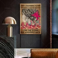 breast cancer they whispered to her you cannot withstand the storm print vintage posters gift idea wall art poster print