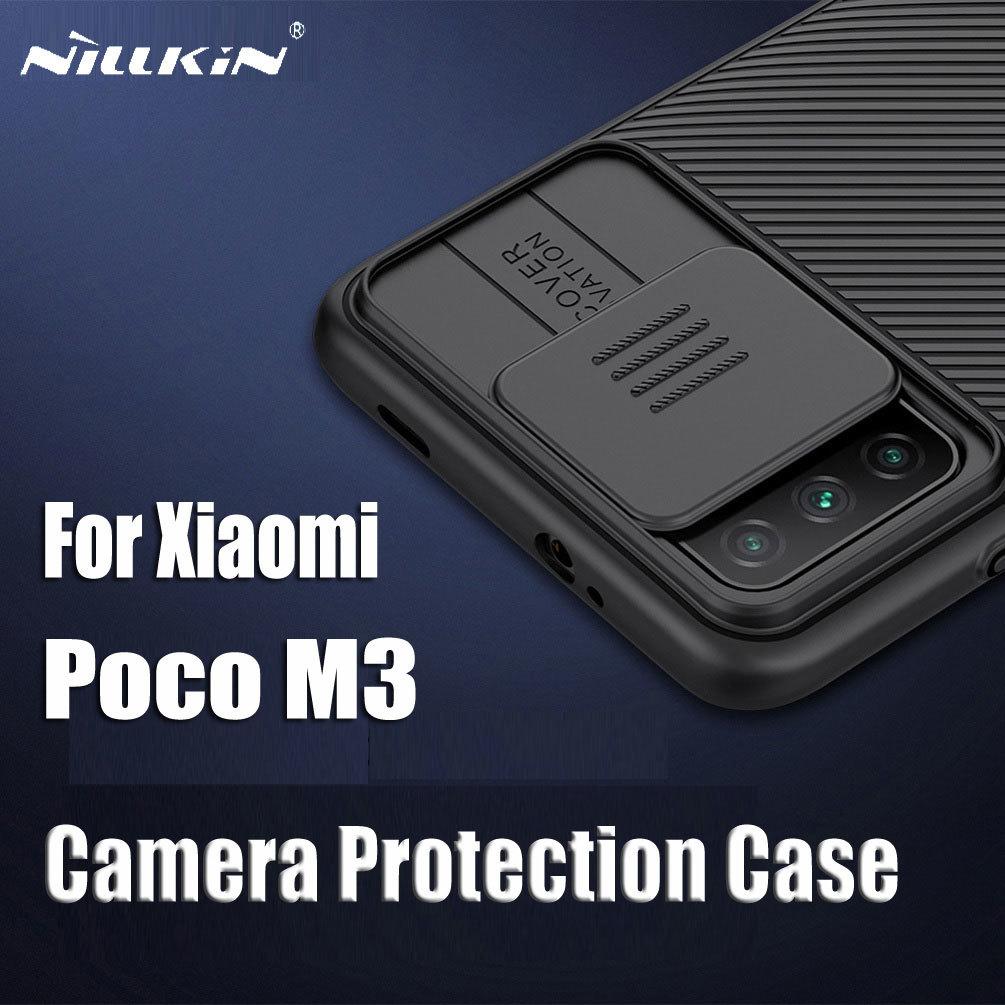 For Xiaomi Poco M3 Case NILLKIN Camshield Slide Protect Camera Cover Lens Protection Case For Xiaomi Poco M3 Cover