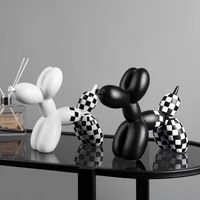 light luxury balloon dog decoration accessories creative animal home living room soft outfit girl cute ornaments figurine