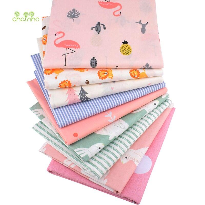 Série dos desenhos animados, tecido de algodão impresso da sarja, varais de retalhos para diy costura estofando o material do bebê & da criança, 40x50cm