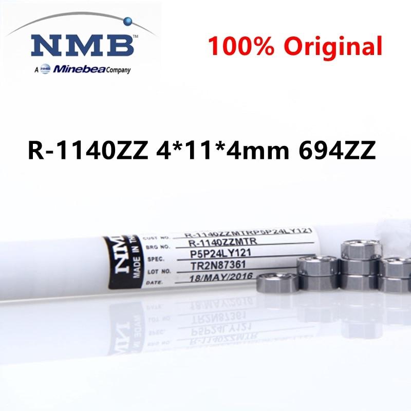 20 قطعة/100 قطعة الأصلي NMB Minebea عالية السرعة تحمل R-1140ZZ 4*11*4 مللي متر 694ZZ الدقة مصغرة الكرة محامل 4 مللي متر x 11 مللي متر x 4 مللي متر