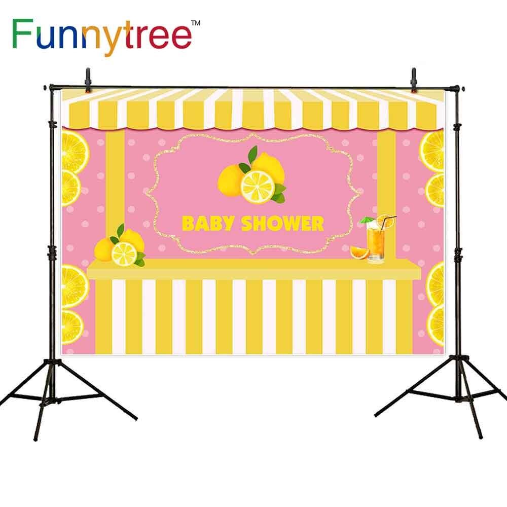 Funnytree telón de fondo fotografía lemon verano Polka Punto de marco de fondo fiesta photocall photophone retrato de foto