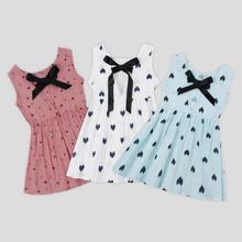 Baby Girls Clothing Summer Baby Dress Children Kids Love Dress Baby Cotton Kids Vest Halter Dress Ch