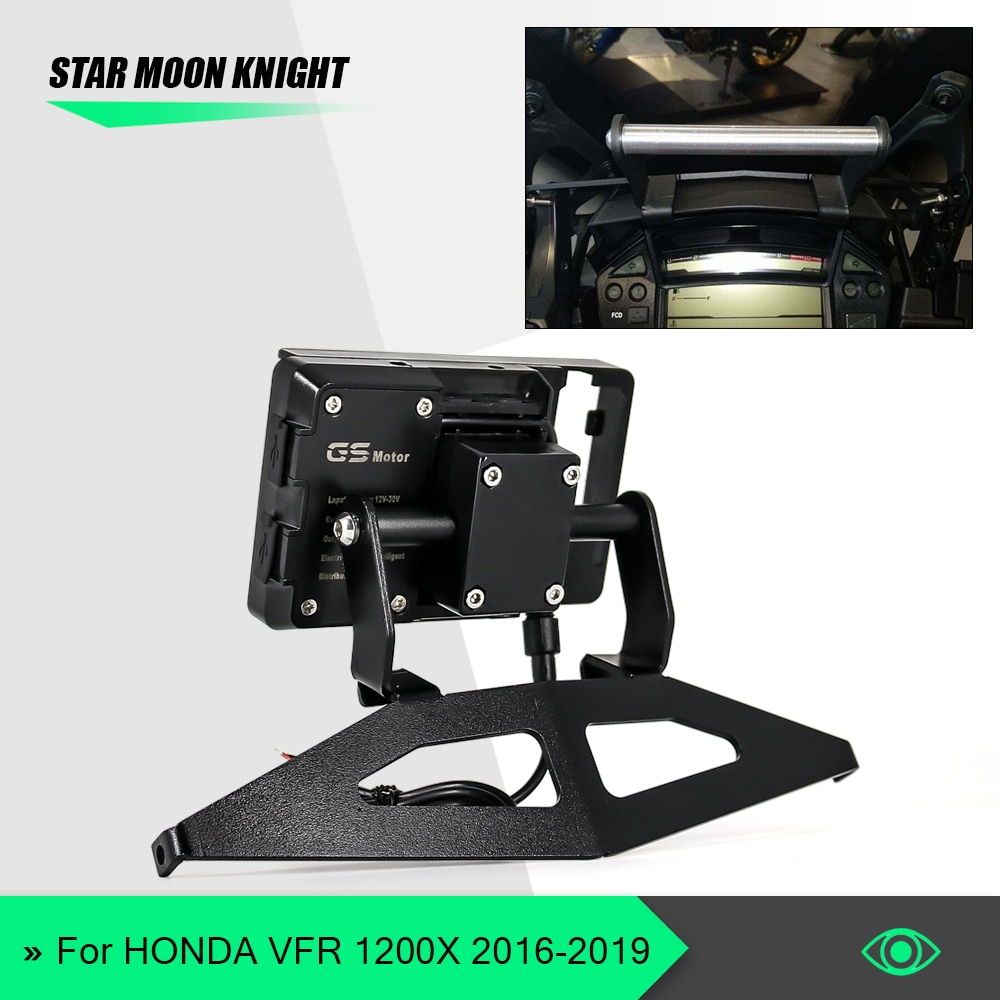 Motorcycle GPS SMART PHONE Navigation GPS Plate Bracket Adapt Holder For Honda VFR1200X Crosstourer VFR 1200 X 2016 - 2020 2019