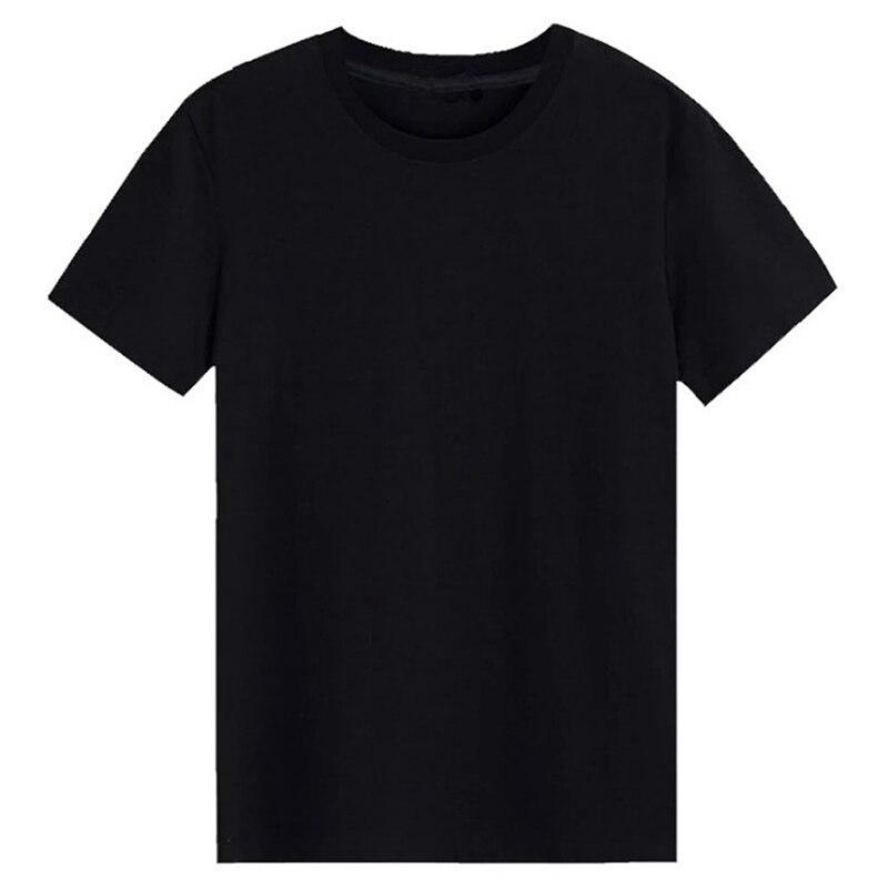 Slim T-Shirt Men Plain Tee Standard Blank T Shirt Black White Tees Top New