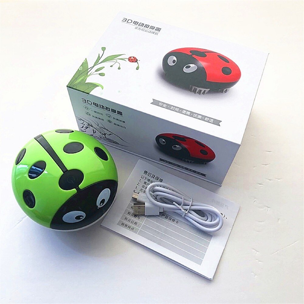 Mini beetle head massager electric rubbing relaxing rechargeable exquisite vibration