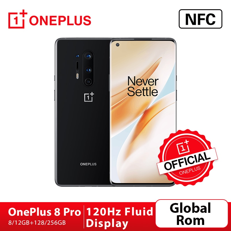 Global Rom OnePlus 8 Pro 5G OnePlus Official Store SmartPhone Snapdragon 865 8G 128G 120Hz Fluid Screen 30W Wireless Charging