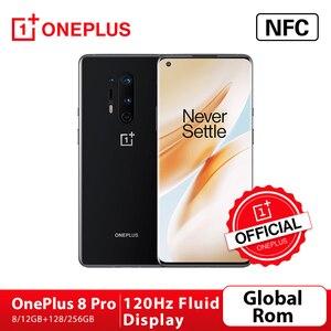 Глобальная прошивка OnePlus 8 Pro 5G Смартфон Snapdragon 865 8G 128G 6,87 ''120 Гц жидкости Scrren 48MP Quad камеры 30 Вт Беспроводной зарядки