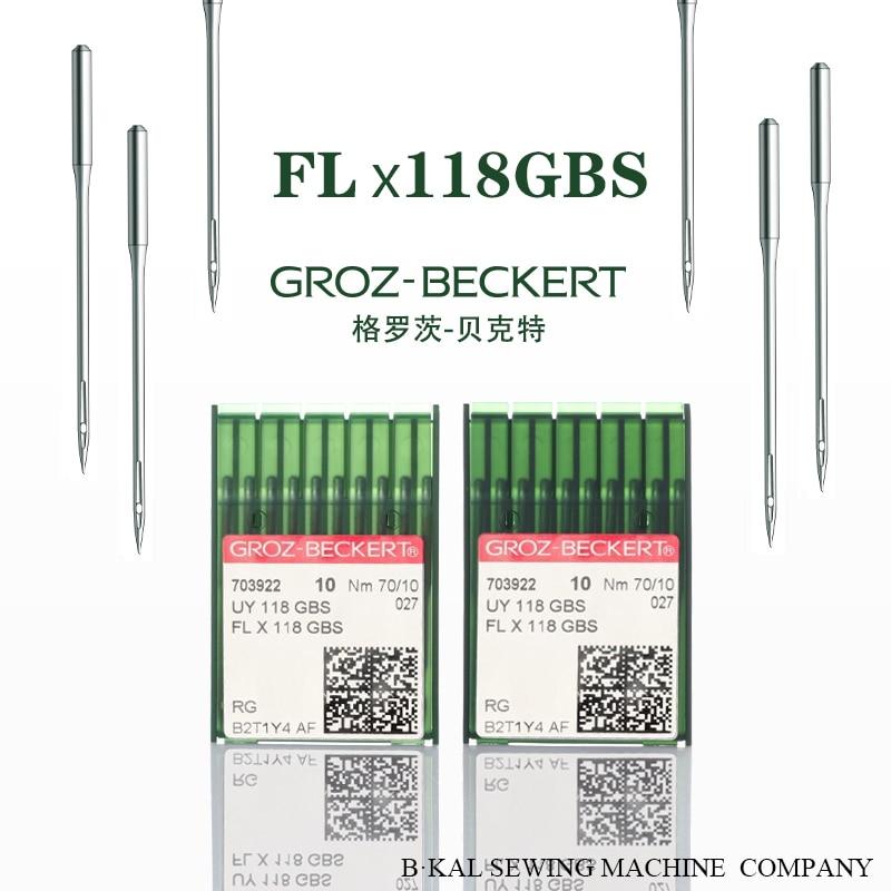 100 piezas de agujas para máquina de coser GROZ BECKERT FLX118GBS de cuatro agujas de seis hilos