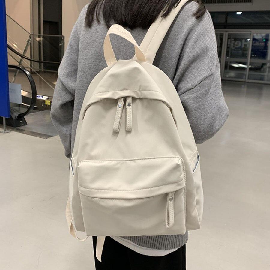 HOCODO Fashion Women Backpack College School Bagpack 2020 Women'S Backpacks Solid Color Women Shoulder Bag Backpack Female