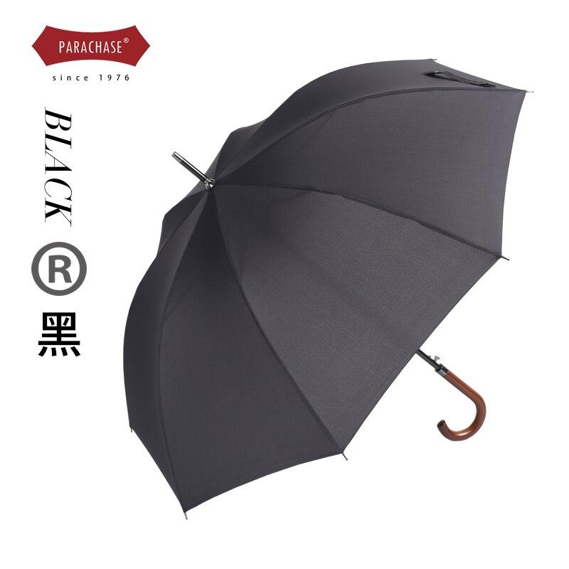 Retro Japanese Umbrella Automatic Female Windproof Simple Large Long Umbrellas Wooden Handle Outdoor  Parapluie Rain Gear DF50YS enlarge