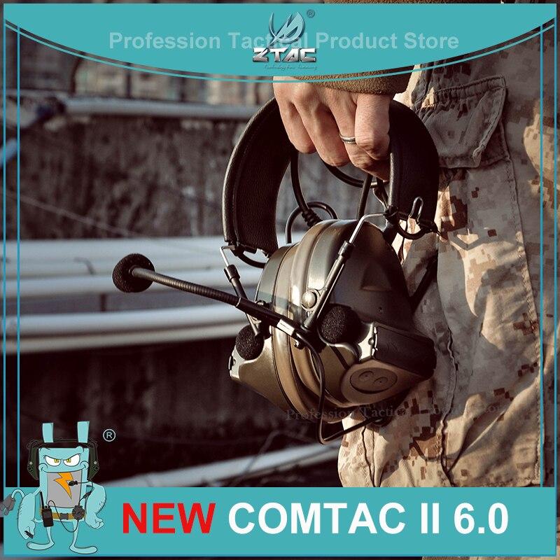 Z-TAC Tactical Headphones Peltor Comtac II 6th Circuit Board 2020 Version 2 Modes Tactical Headset F