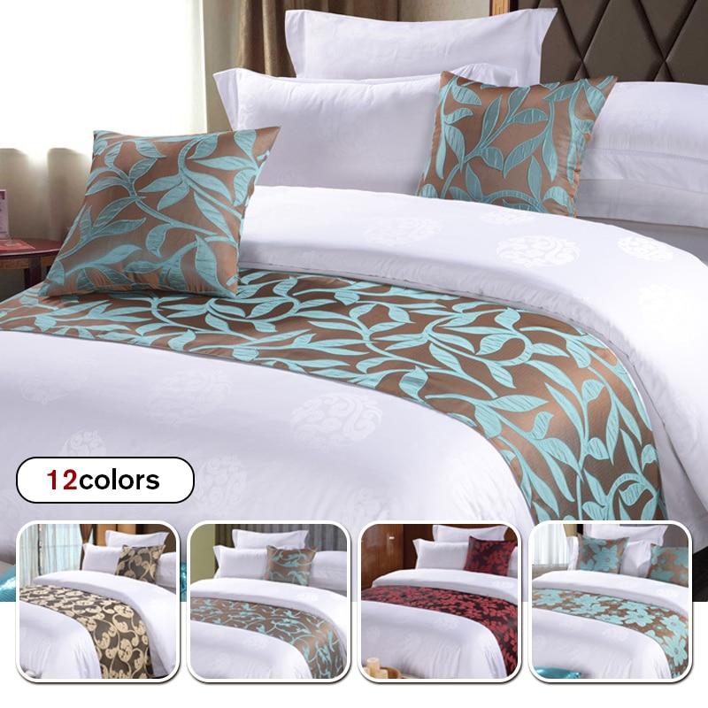 الشمال نمط غطاء السرير الطويل مع 2 قطعة سادات الجاكار السرير العلم رمي الفراش المفرش فندق Hoom الفراش السرير الذيل منشفة