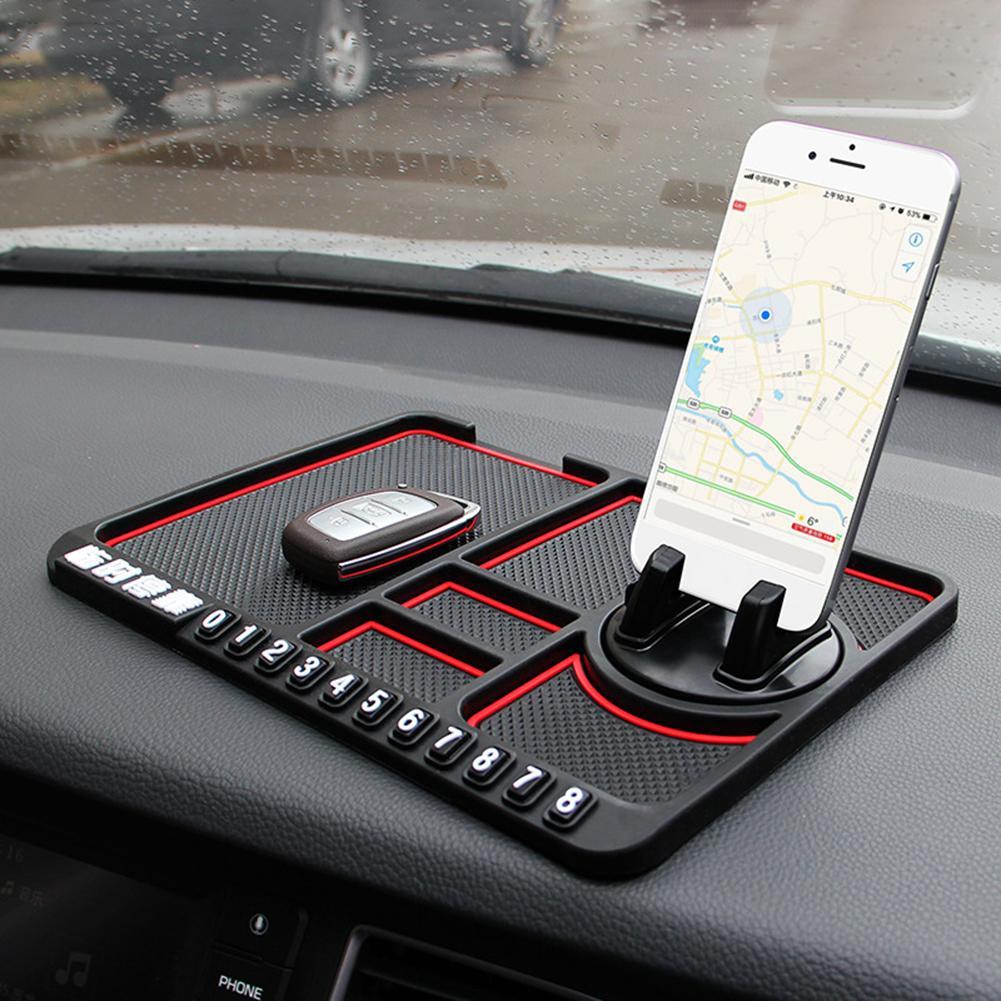 Автомобильный нескользящий коврик, автомобильный силиконовый держатель для телефона, Нескользящая липкая противоскользящая скользящая п...